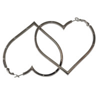 Chanel Heart hoop earrings CC logo