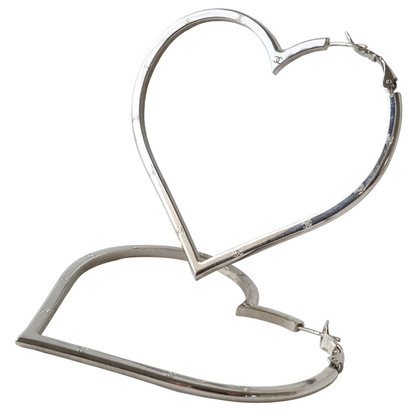 Chanel Marchio del cuore hoop orecchini CC