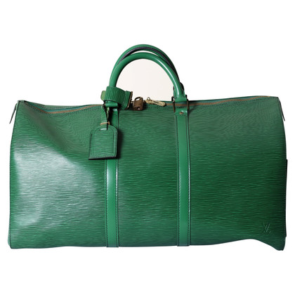 """Louis Vuitton """"Keepall 50 Epi leather"""" in green"""