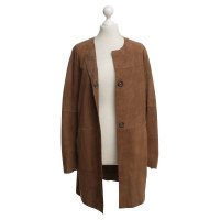 Riani Leather coat in brown