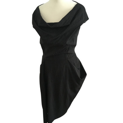 Talbot Runhof Sheath dress with pinstripe