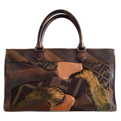 Fendi Patchwork Tote Bag