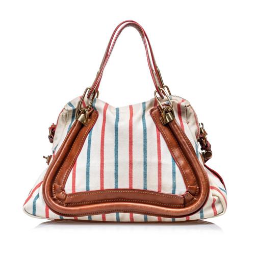 9a632eb79d Chloé Shoulder bag Canvas in White - Second Hand Chloé Shoulder bag ...