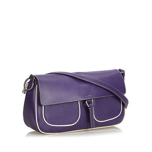 1efc2c3079 Prada Shoulder bag Leather in Violet - Second Hand Prada Shoulder ...