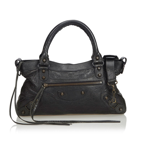 d95ed1dee8 Balenciaga Motocross Classic Bag in black leather - Second Hand ...