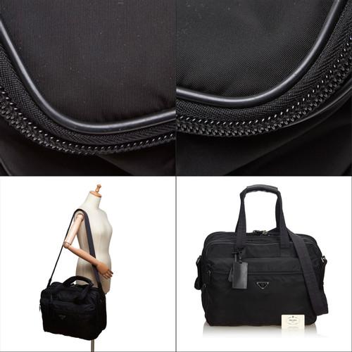 95a8e970cb415 Prada Handtasche in Schwarz - Second Hand Prada Handtasche in ...