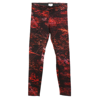 Helmut Lang Leggings in Schwarz/Rot