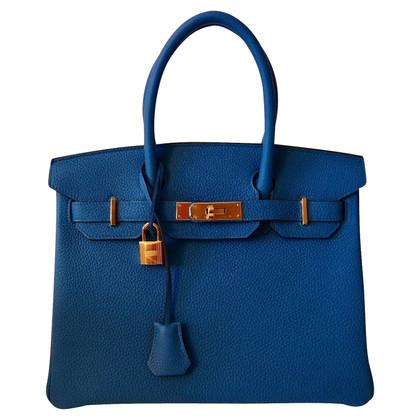 Hermès HERMES BIRKIN 30 BLUE ZANZIBAR