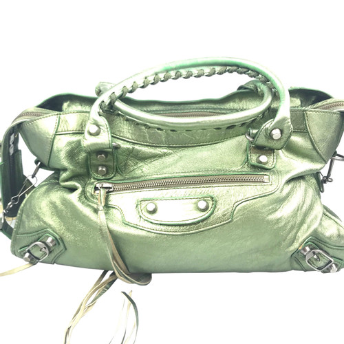 19a41a5fda Balenciaga Motocross Classic City in green leather - Second Hand ...