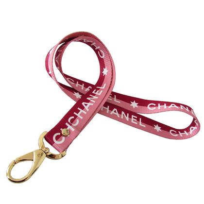 Chanel Unisex riem roze/rood/wit