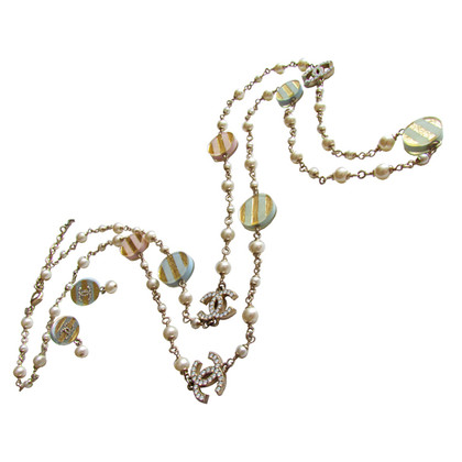 Chanel Pearl set necklace, necklace & earrings pastel