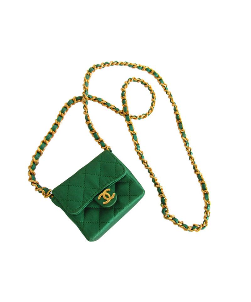 Assez Chanel Collana con borsa verde smeraldo mini flap - Compra Chanel  GM62
