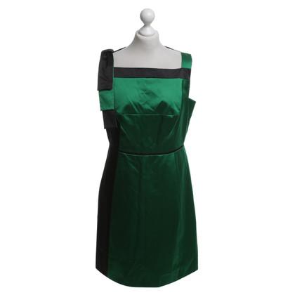 Karen Millen Dress in green / black