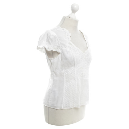 Karen Millen Blouse with lace details in white