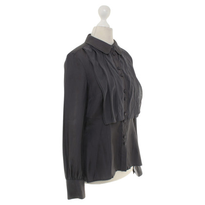 Hobbs Silk blouse in dark gray