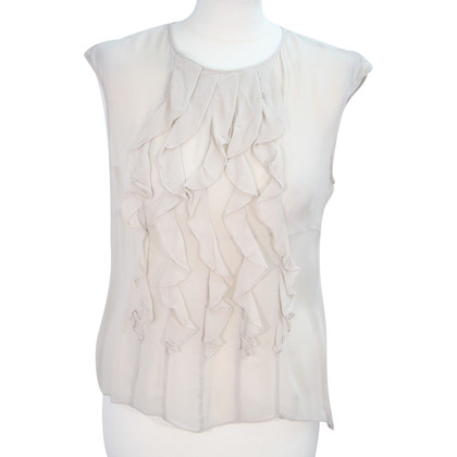 Karen Millen  Top in seta in Crema