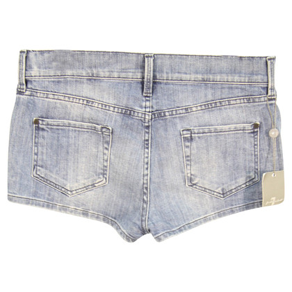 7 For All Mankind Denim shorts in blauw
