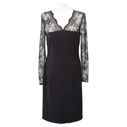 Hobbs Black dress with lace