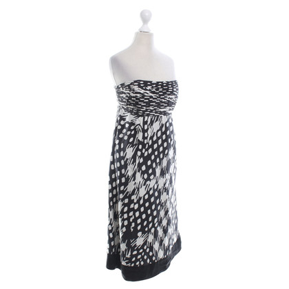 Ted Baker Silk dress in black and white