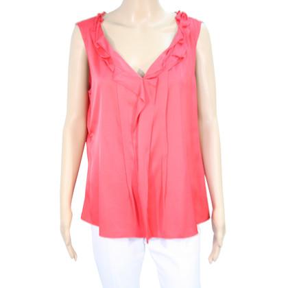 Elie Tahari Zijden blouse in het rood