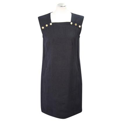 Hobbs Linen dress in dark blue