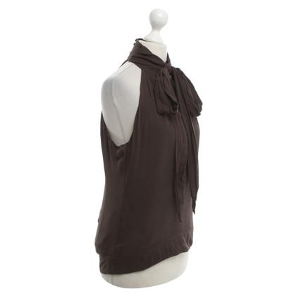 Karen Millen Silk Top in Bruin