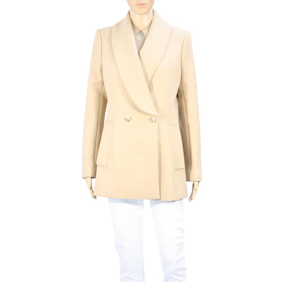 Reiss Manteau de laine en beige