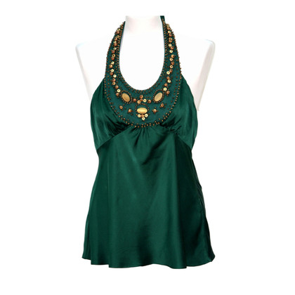 BCBG Max Azria Silk Top in Green