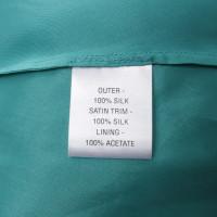 L.K. Bennett Robe en soie turquoise