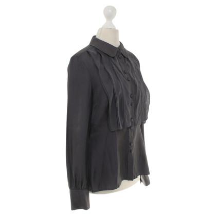 Hobbs Zijden blouse in donkergrijs