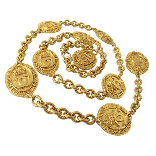 Chanel Gürtelsautoir Kettearmband Münzen Second Hand Chanel