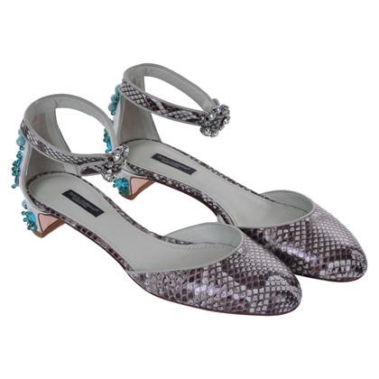 Dolce & Gabbana Sandaletten aus Schlangenleder