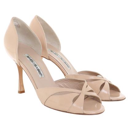 Manolo Blahnik Patent leather peep-toes