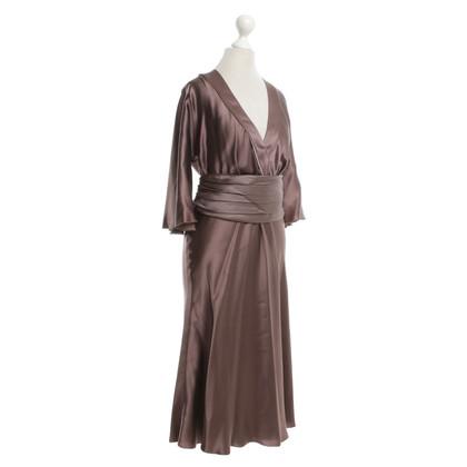 St. Emile Silk dress in brown