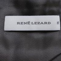 René Lezard Zwarte Blazer met hoge kraag