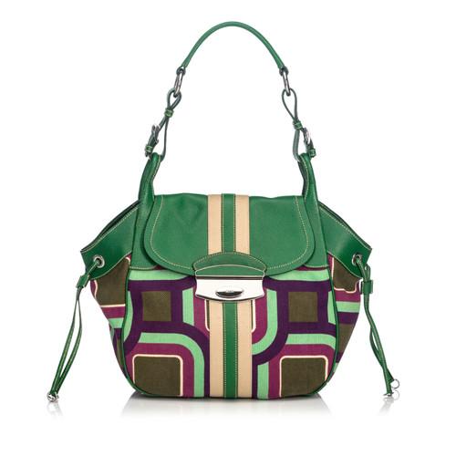 245c3f1005e9 Prada Shoulder bag Canvas in Green - Second Hand Prada Shoulder bag ...