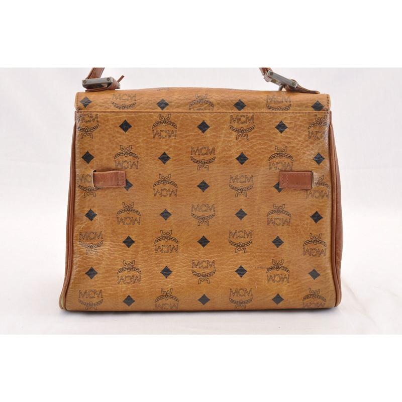 MCM Handtasche aus Canvas in Braun Second Hand MCM