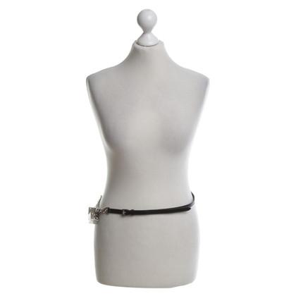 Christian Dior Cintura in pelle in Black