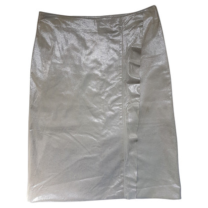 Valentino Leather skirt in cream