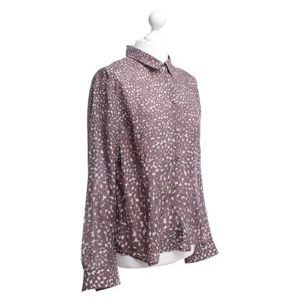 René Lezard Silk blouse with patterns