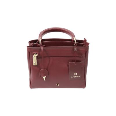 25feadeff04b5 Aigner Handtasche aus Leder in Bordeaux