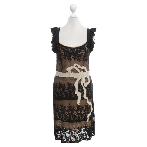 Red Valentino Lace Dress In Black Cream Second Hand Red