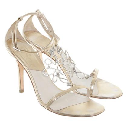 Christian Dior Sandaletten mit Strasssteinen