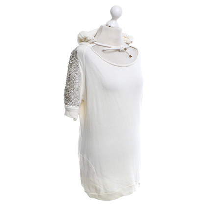 Elisabetta Franchi Sweatshirt in cream