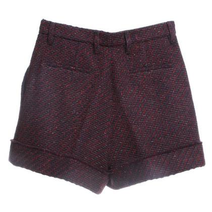 Prada pantaloncini multicolori con vita alta