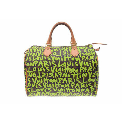 ae8adf6bcbc7d3 Louis Vuitton Speedy 30 from Monogram Canvas in green - Second Hand ...