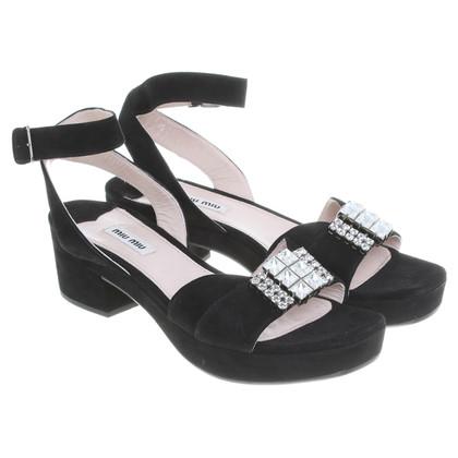 Miu Miu zwart platform sandaal