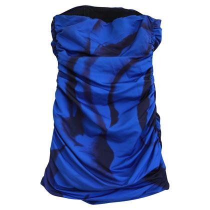 MSGM Bandeau dress in blue / black