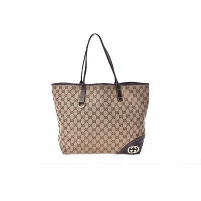 8488b36e1b189 New In. Gucci Handtasche aus Canvas in Braun