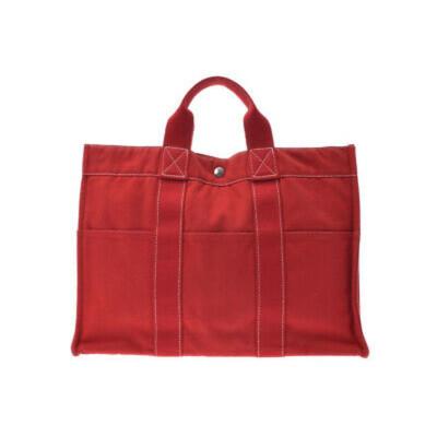 305970570fc51 Hermès Fourre Tout Bag aus Canvas in Rot